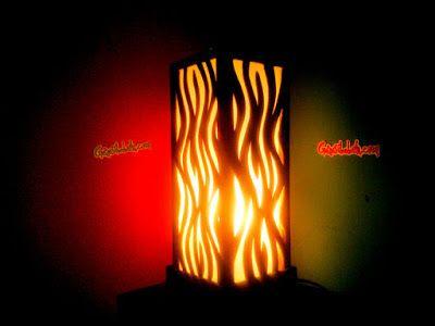 DIY - Membuat lampu kamar/dinding (flame pendant lamp) dari kayu tripleks