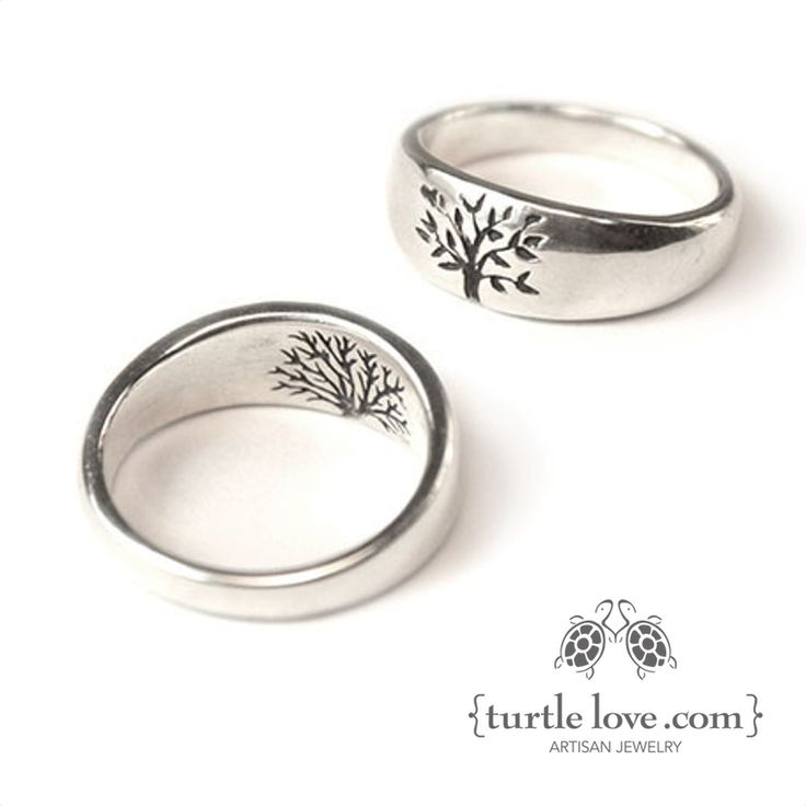 Channel your inner forest nymph with rustic, nature-inspired rings from Turtle Love