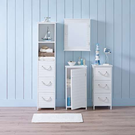 Nautical Bathroom Furniture Collection | Dunelm Like the simple style and rope handles.