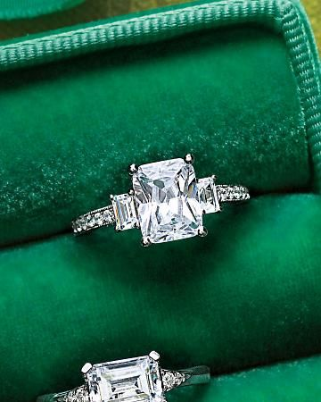 If he get me this Emerald-Cut Diamond Engagement Ring I would say yes to the ring n then pass out >.