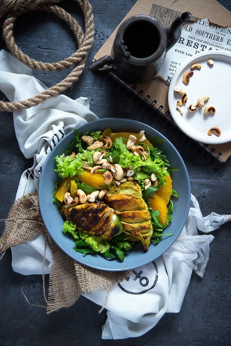 picante-jalapeno.blogspot.com: Sałatka z kurczakiem wasabi, z pomarańczą i…