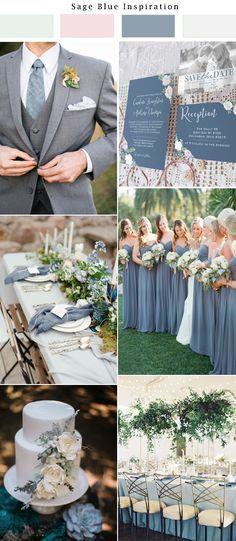 Slate blue wedding inspiration. Light blue wedding, dusty blue wedding. Paper from Unica Forma