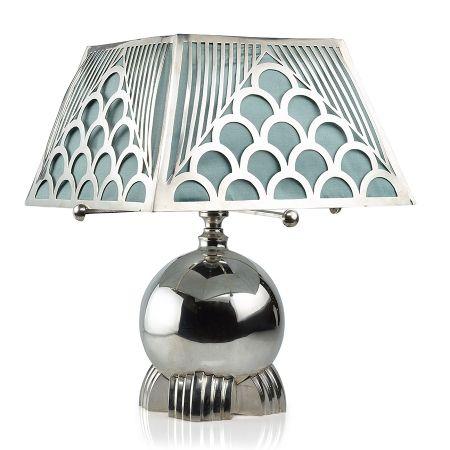 Rare Portuguese Deco Sterling Silver Lamp - 1930s