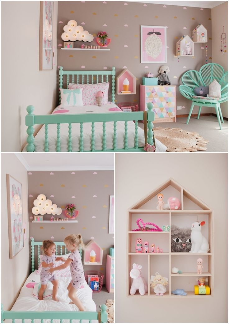 10 cute ideas to decorate a toddler girl's room - http://www
