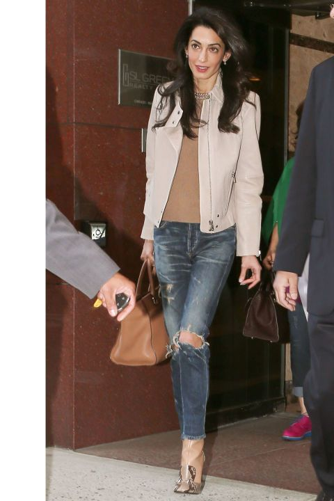 Amal steps out in J Brand, see all her best looks here:
