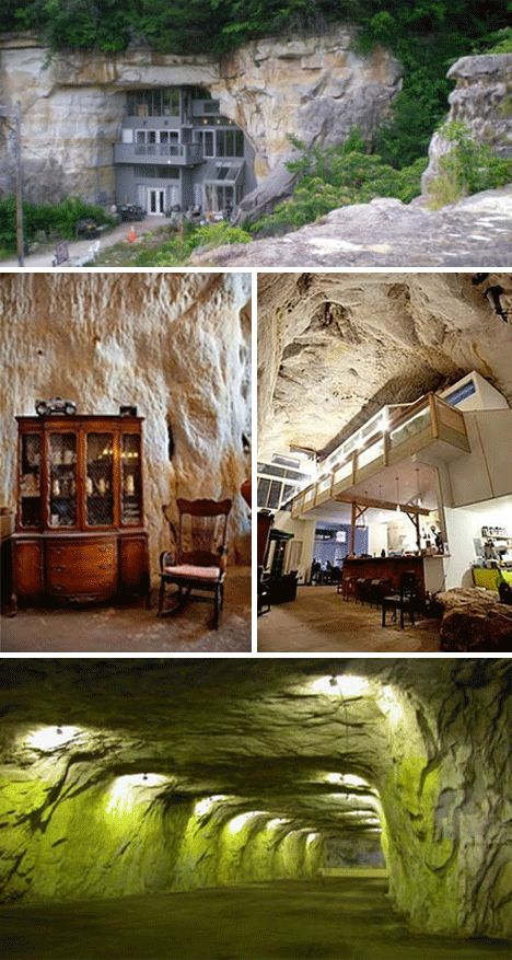 Missouri is home to a lot of random things  including a sprawling cave home  built85 best Underground home plans images on Pinterest   Survival  . Underground Cave Home. Home Design Ideas