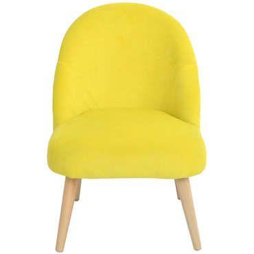 Fauteuil MADY coloris jaune - pas cher ? C'est sur Conforama.fr - large choix, prix discount et des offres exclusives Fauteuil sur Conforama.fr