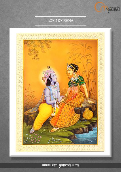 The Mighty Lord Krishna, merrily playing the flute, spread the power of love with melody and his divine presence.