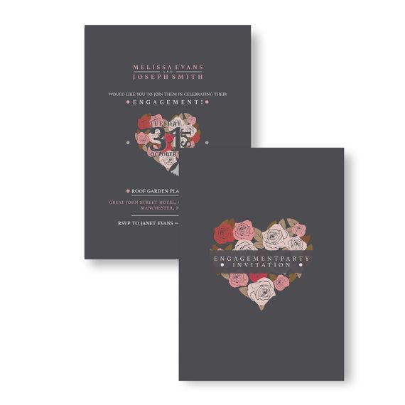 71 best Trending Engagement Personalised Party Invitations images - engagement party invitations free