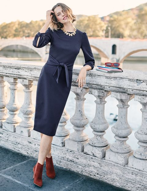 a72cfaca60 Don t be tied to a certain fit – simply adjust the belt on this elegant  dress to define your shape. The ponte fabric ensures the figure-skimming  cut is ...