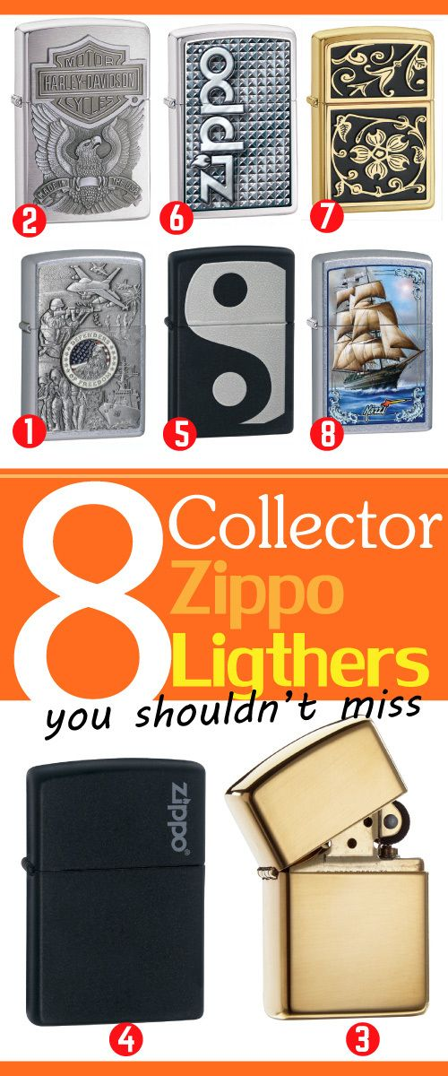 Zippo Lighter Collection. Collectible Lighters.