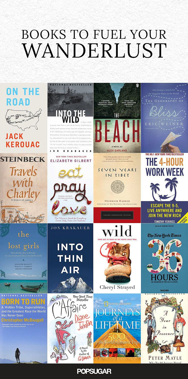 18 Books to Fuel Your Wanderlust - I've got about half of these done and have NOT been dissapointed