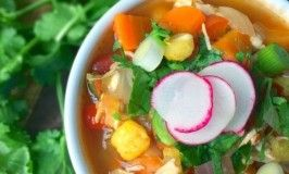 Mexican Chicken Posole Soup Recipe - The Lemon Bowl