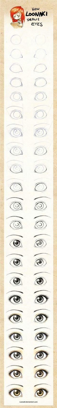 Weibliche Manga Augen zeichnen lernen Nr. 2