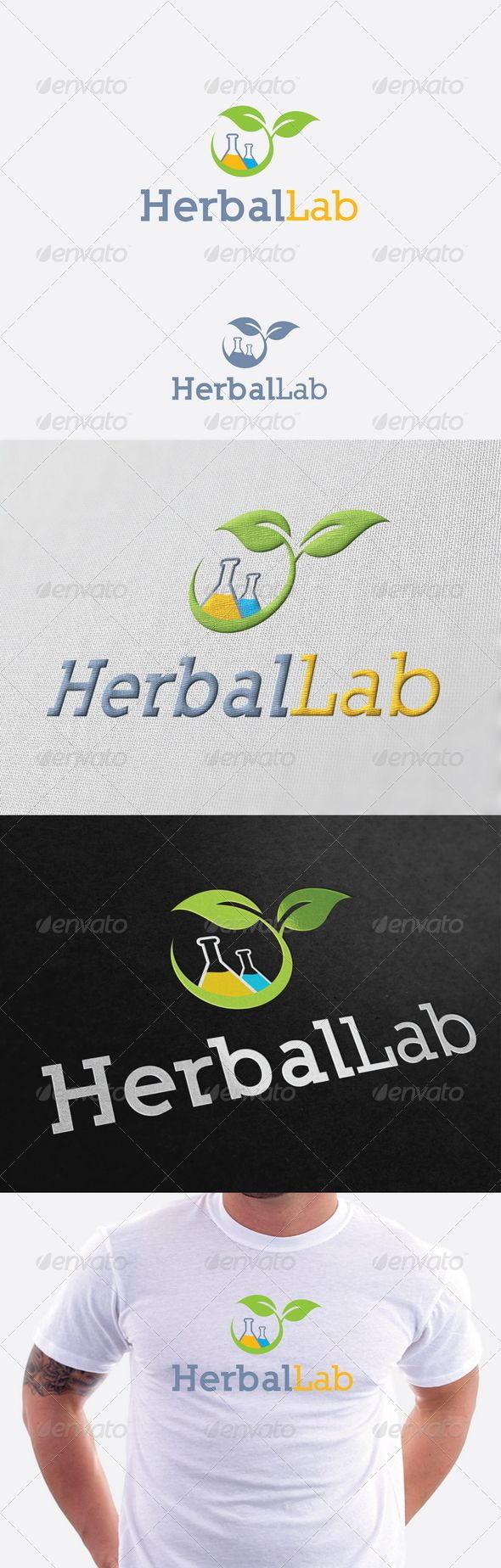 Herbal Lab Logo Template  #GraphicRiver         Re sizable   Vector EPS and Ai