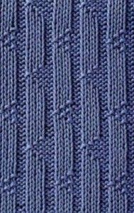 ribbed and triangles knitting stitch