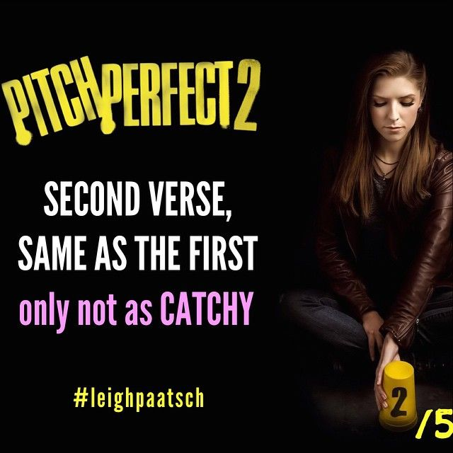 One Shot Review - PITCH PERFECT 2.  #pitchperfect #pitchperfect2 #annakendrick #sequel #acappella #bardenbellas #rebelwilson #OneShotReview