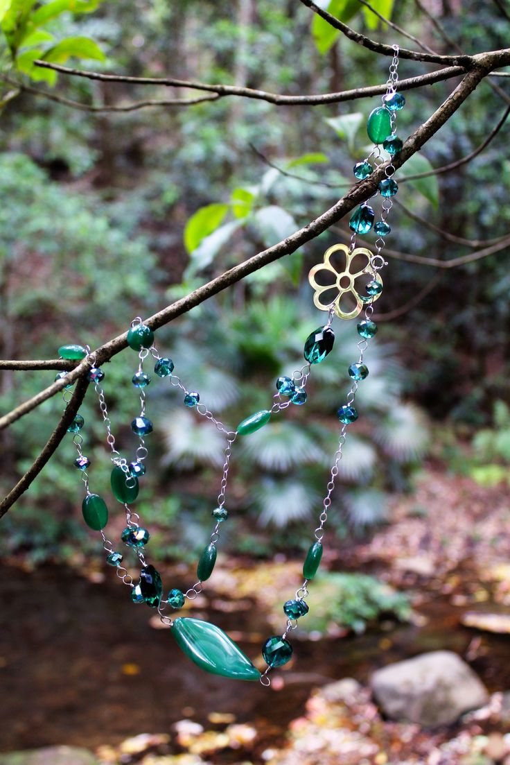 Green agate necklace… The colour of nature.