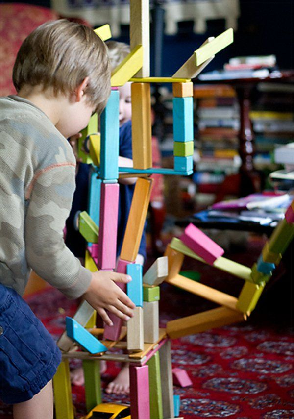 Tegu – classic wooden blocks for the future. Natural child holiday gift idea.