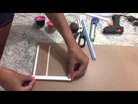 Porta-cápsulas Dolce Gusto confeccionado com materiais simples e baratos, fácil de fazer!
