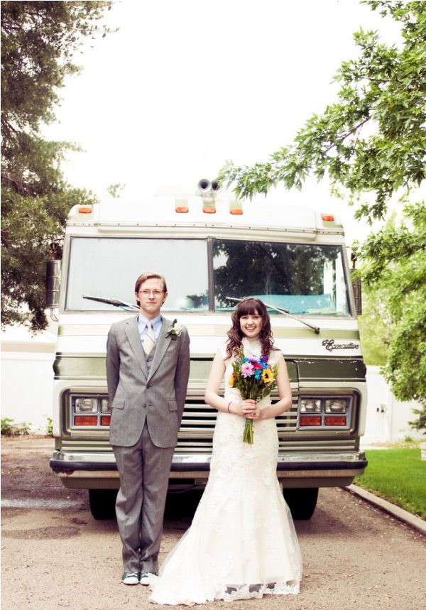 Retro DIY Wedding...an avocado green seventies motor home would be superb...