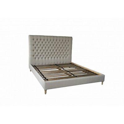 Queen Bed Buttoned Linen