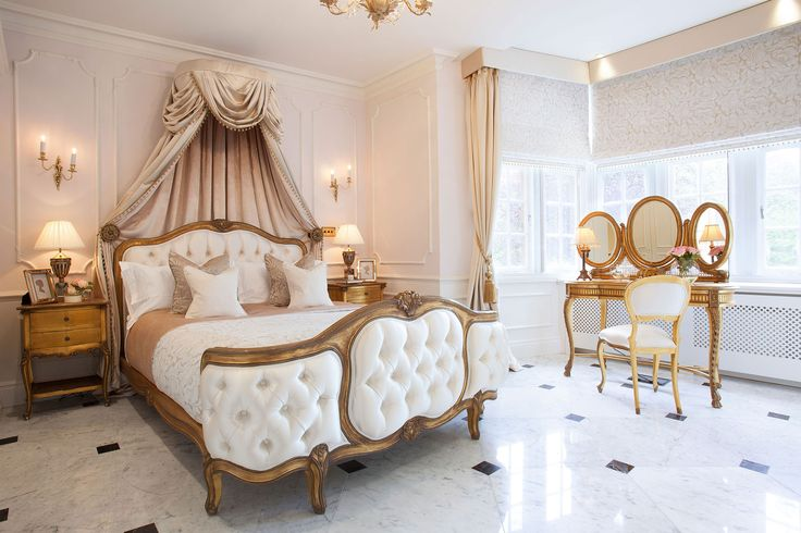 Parkside III, Luxury Master Bedroom, inspired by Louis XV era  | JHR Interiors