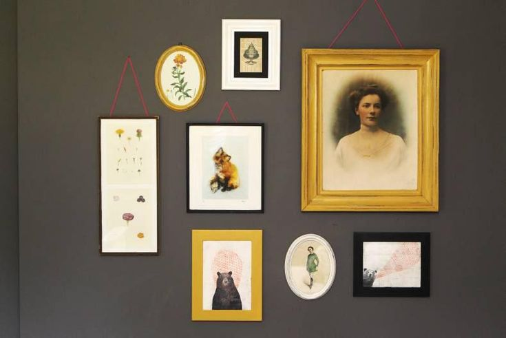 Create a gallery wall using old frames in our DIY series with Kyle Lane