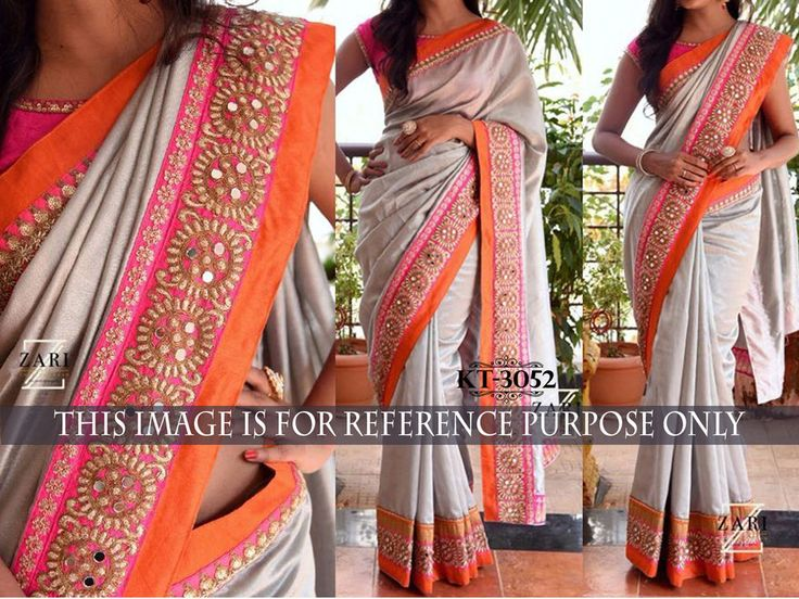 Indian Bollywood Style Heavy Stone Work Beautiful Party Designer Saree Sari 3052