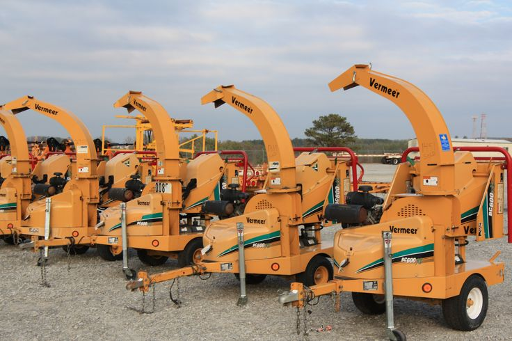 We sell lots of used chippers on behalf of the current owners, at public auction - like these Vermeer wood and brush chippers.