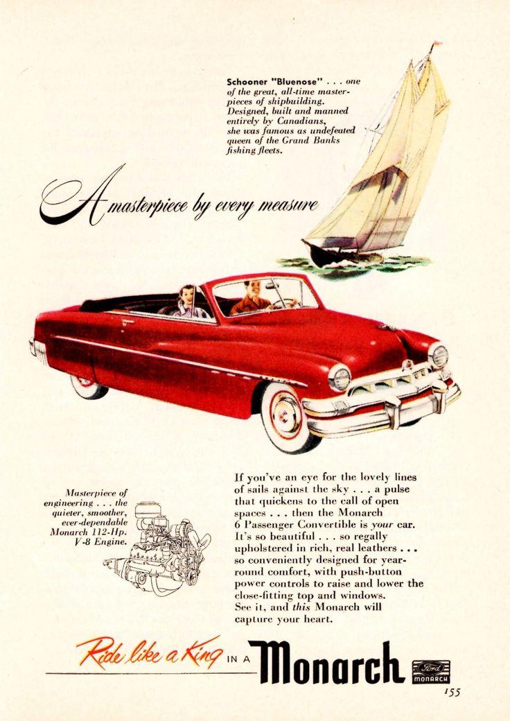 1950 Monarch. (Canada). No more Monarchs. Car