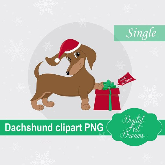 Dachshund Clipart PNG Dachshund Gifts Dog Graphics