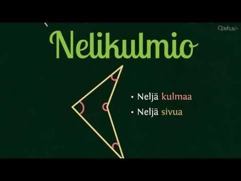 Nelikulmiot | Opetus.tv (neljä videota 1:37-2:31).