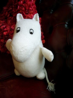 Knitted moomin