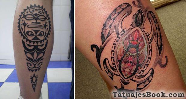 Diseños de tatuajes hawaianos (flores, tortugas e iguanas)