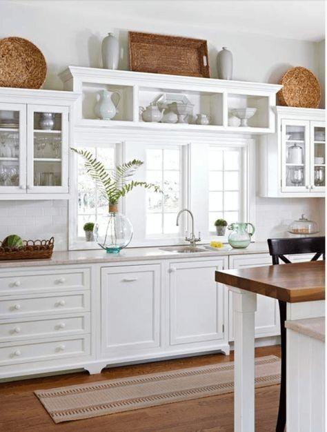 Stark White Kitchen Cabinets with White Hardware