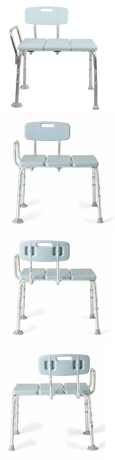 Other Accessibility Fixtures: Medline Transfer Bench With Back, Knockdown, Microban, New, Free Shipping -> BUY IT NOW ONLY: $86.23 on eBay!