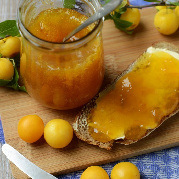 Confiture de mirabelles à la verveine citronnelle