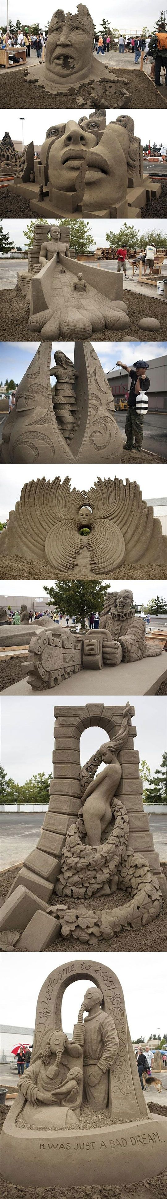 World Championship of Sand Sculpting. This is so inspirational. I want to attend some day.