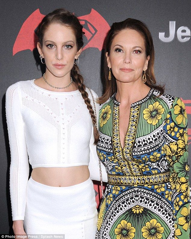 Diane Lane and daughter Eleanor Lambert attend Batman V Superman New York premiere | Daily Mail Online