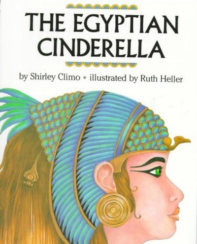The Egyptian Cinderella by Shirley Climo.  In this version of Cinderella set in Egypt in the sixth century B.C., Rhodopes, a slave girl, eventually comes to be chosen by the Pharaoh to be his queen.  WALSH JUVENILE  PZ8.C56 E3 1992