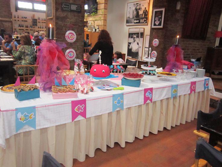 a mesa dos doces