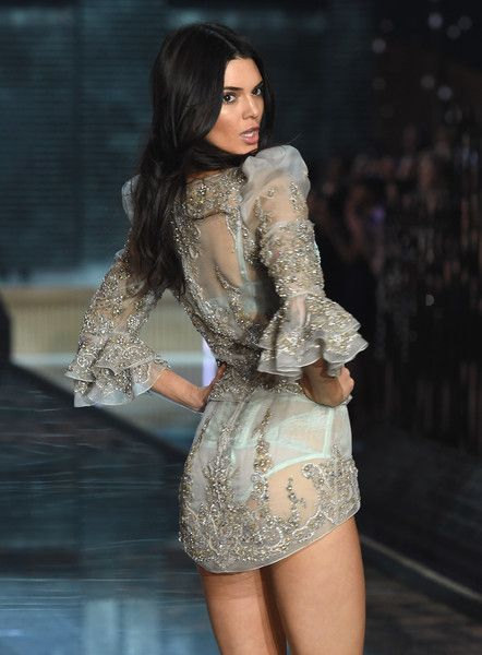 Model Kendall Jenner from California walks the runway during the 2015 Victoria's Secret Fashion Show at Lexington Avenue Armory on November 10, 2015 in New York City.