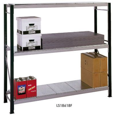 Longspan Shelving Bays 3 Galvanised Steel Decks/Shelves