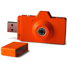 Orange USB Camera Flash Drive. Cool!