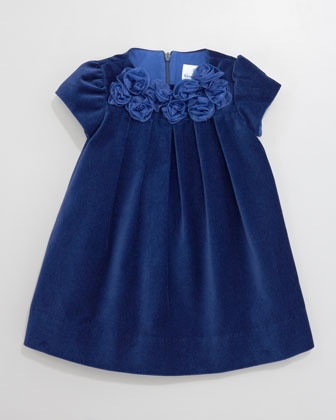 Royal Roses Velvet Dress - Neiman Marcus