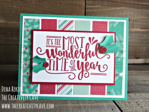 Made a variation on this design. Card from Dana Rekow @ The Creativity Cave.