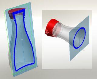 3D CAD model soy sauce bottle