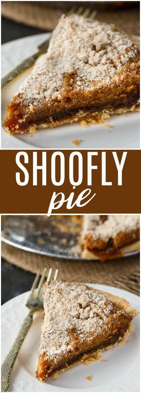 Shoofly Pie - A popular Pennsylvania Dutch pie recipe from the 1800s.