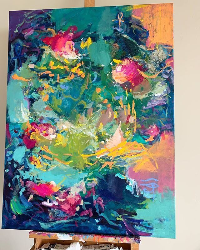 How To Make Your Acrylics Look Like Oils Amira Rahim Abstract Art Painting Colorful Abstract Painting Painting